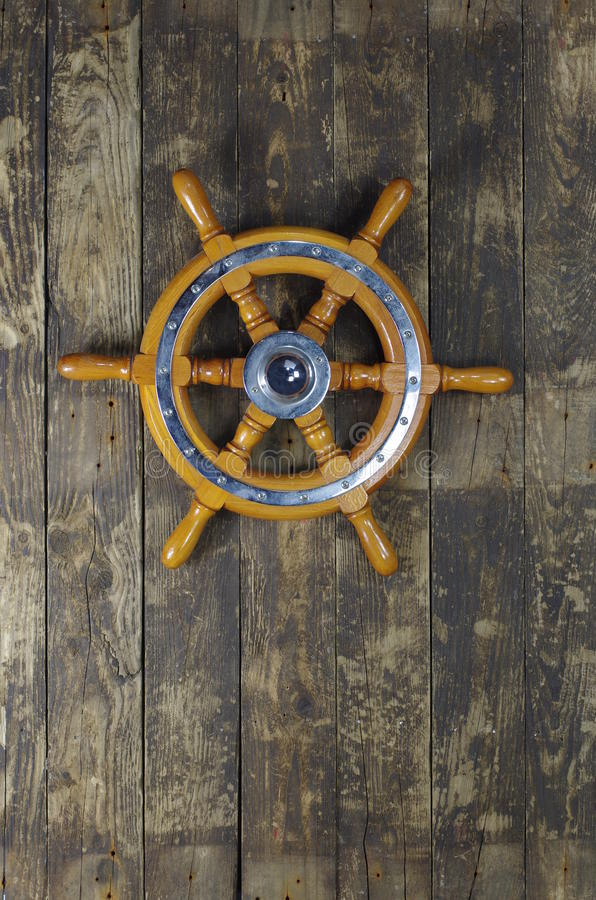 Free Steering Wheel Of Sailing-ship Royalty Free Stock Images - 27350729