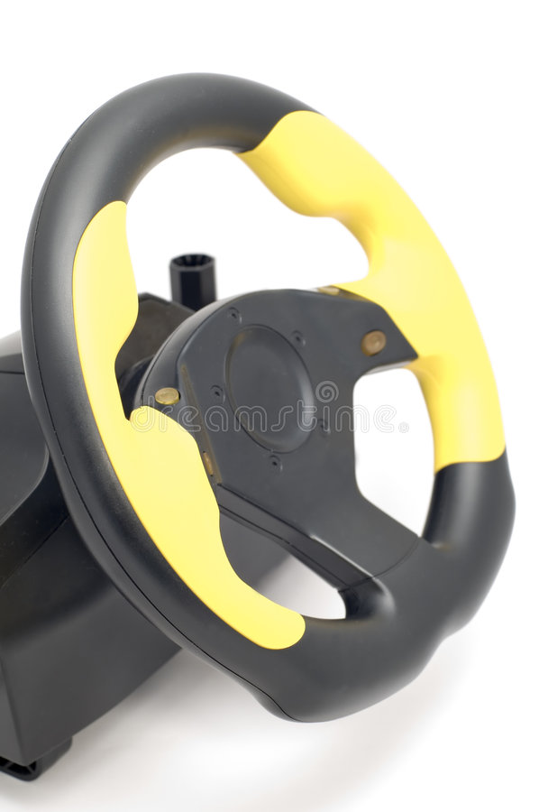 Steering wheel for pc stock photography