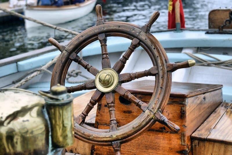 Steering Wheel Sailboat Stock Image Image Of Shine