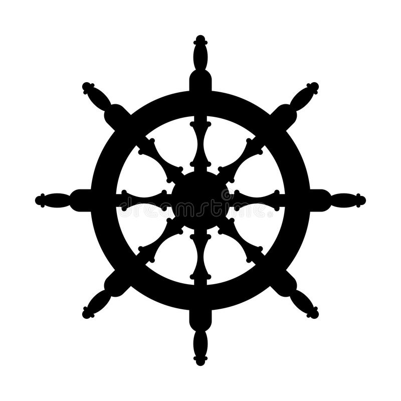 Free Steering Wheel Silhouette Isolated. Steering Wheel Ship White Ba Stock Image - 101962601