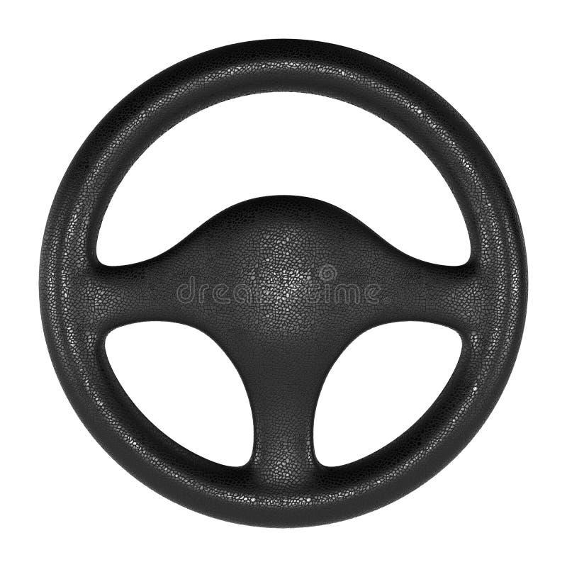 Download Steering Wheel On White Background Stock Illustration - Illustration of black, rubber: 23718585