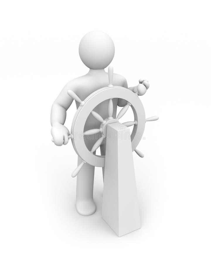 steersman illustration libre de droits