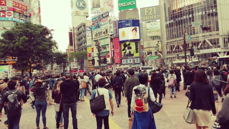 Steets de la travesía de Tokio Shibuya imagen de archivo
