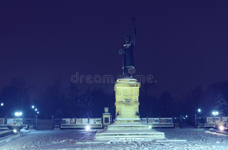 Stefan kwadrat w centrala parku i statua obrazy royalty free