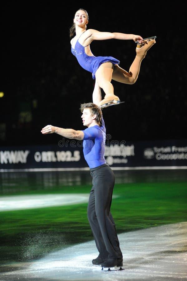 Stefania Berton et Hotarek au gala de la glace 2010 photo libre de droits