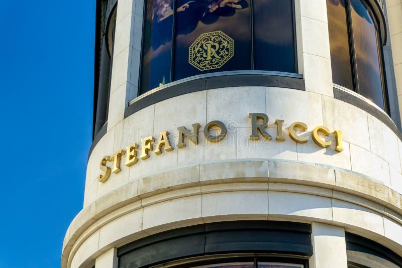 Stefano Ricci Retail Store Exterior fotografia de stock
