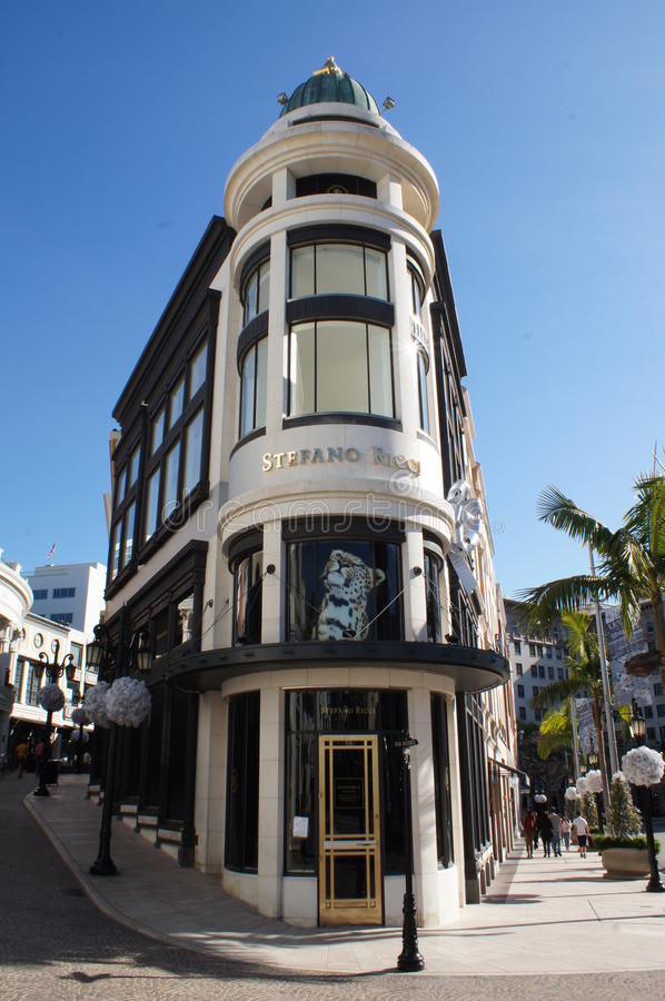 Stefano Ricci Store in Beverly Hills stock foto's