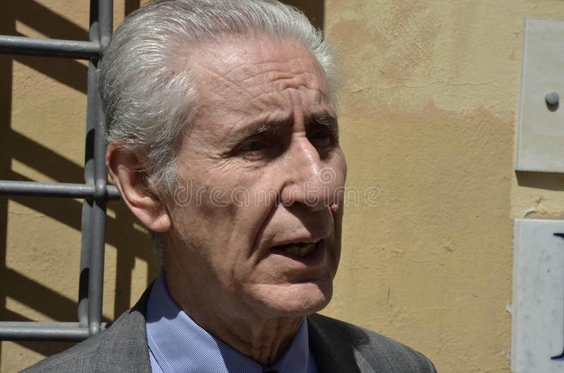 Stefano Rodotà, beroemde Italiaanse jurist royalty-vrije stock fotografie