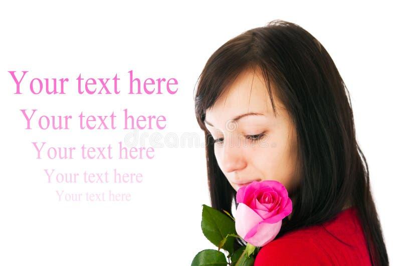 steg den rosa romantiker för flicka arkivbild