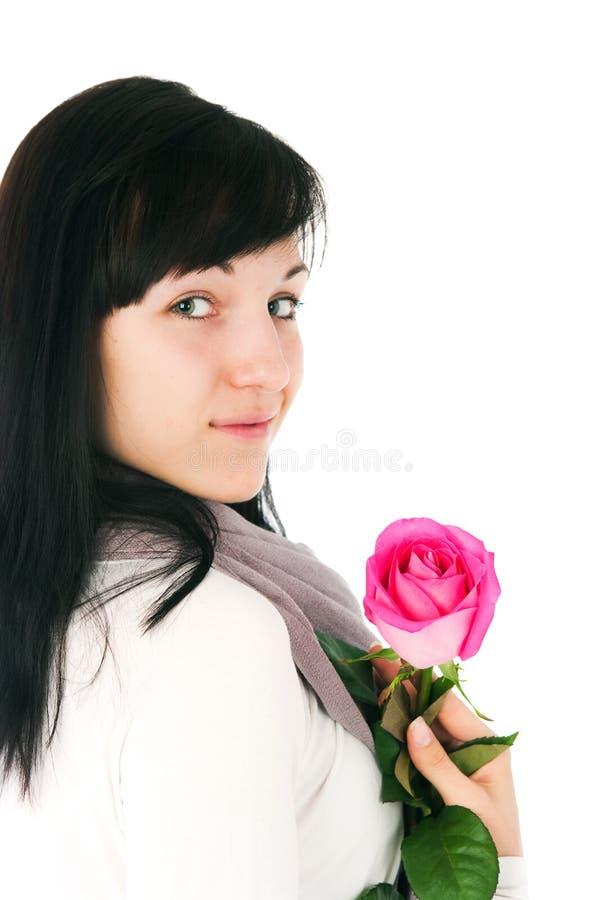 steg den rosa romantiker för flicka royaltyfri foto