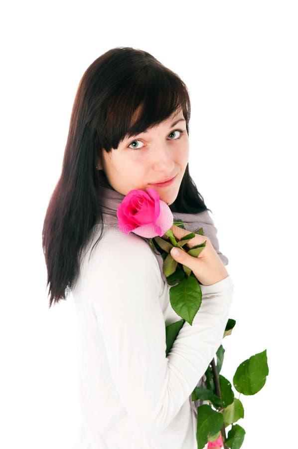 steg den rosa romantiker för flicka arkivfoto