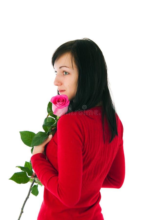 steg den rosa romantiker för flicka royaltyfria foton