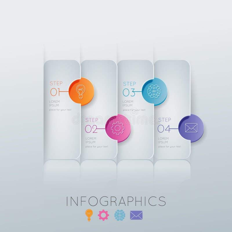 Steg-för-steg Illustration för färg 3D stock illustrationer
