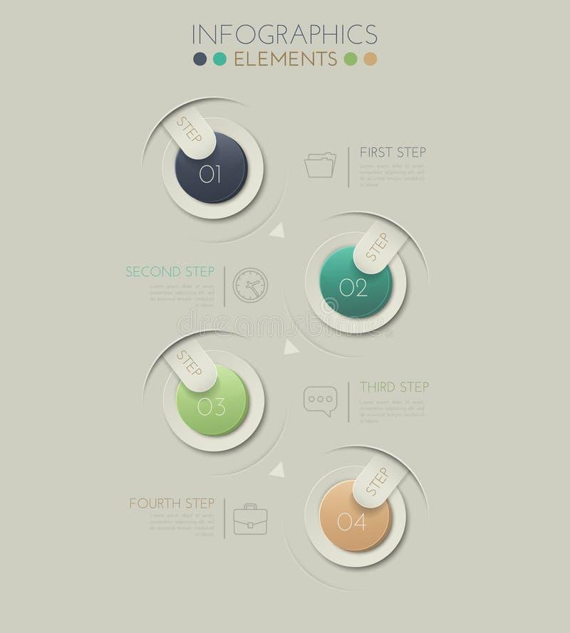 Steg-för-steg Illustration för färg 3D royaltyfri illustrationer
