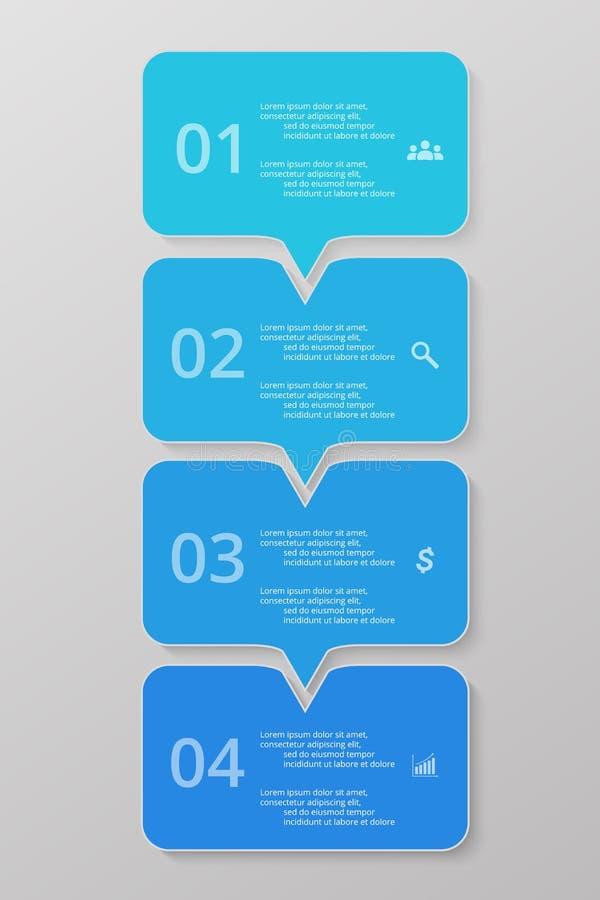 Steg-för-steg infographic stock illustrationer