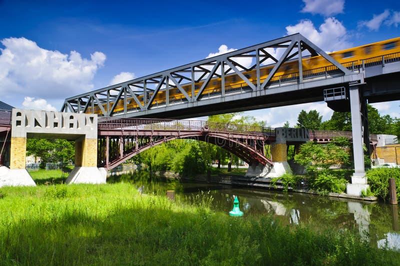 steg footbridge berlin anhalter стоковая фотография