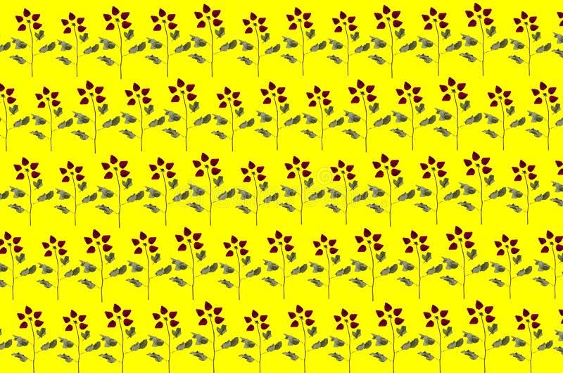 Steg modellbakgrund Sömlösa kronblad för bild med blommor stock illustrationer