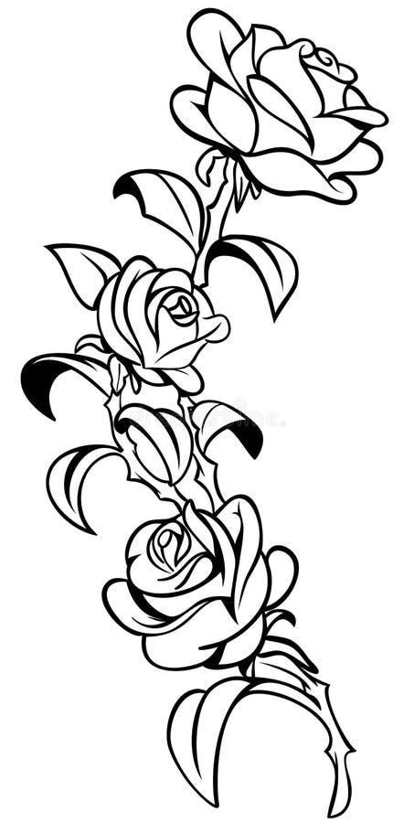 Steg tatueringen stock illustrationer