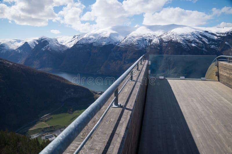Stegastein观点, Aurland,挪威 库存图片