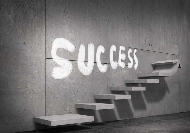 Stege av framgång och prestationen Blandat massmedia arkivfoton