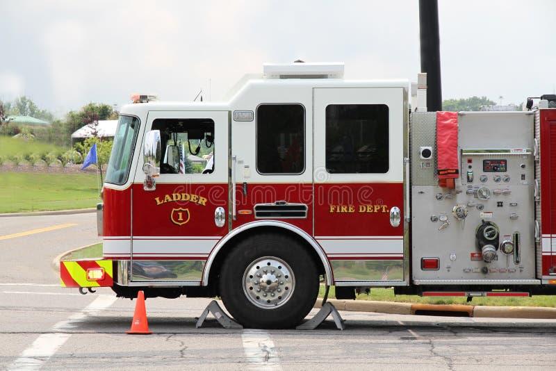Stege 1 för brandmotor arkivbild