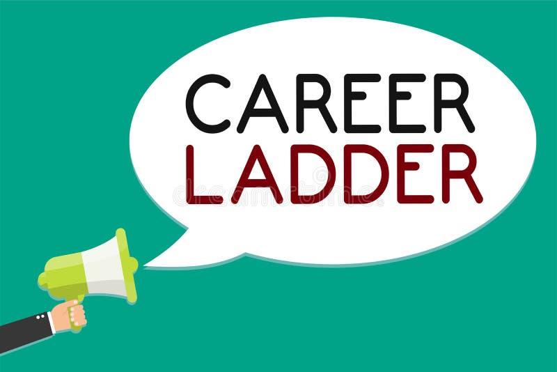 Stege för karriär för handskrifttexthandstil Begrepp som betyder mannen för Job Promotion Professional Progress Upward rörlighets vektor illustrationer