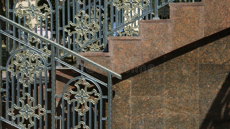 Stege till templet arkivbild