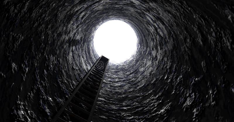 Stege ut ur tunnelen royaltyfri fotografi