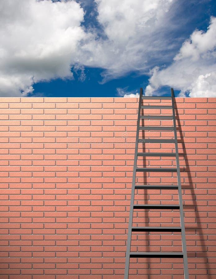 stegen lutar skyväggen royaltyfri bild