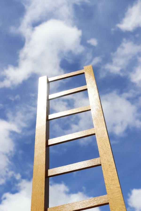 Stegen stiger upp till himlen stock illustrationer
