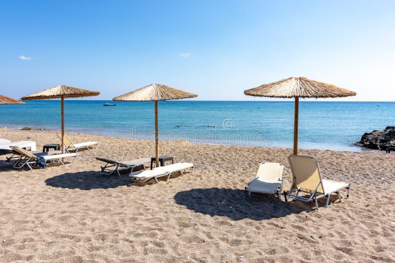 Stegna strand, Rhodes ö, Grekland arkivfoto