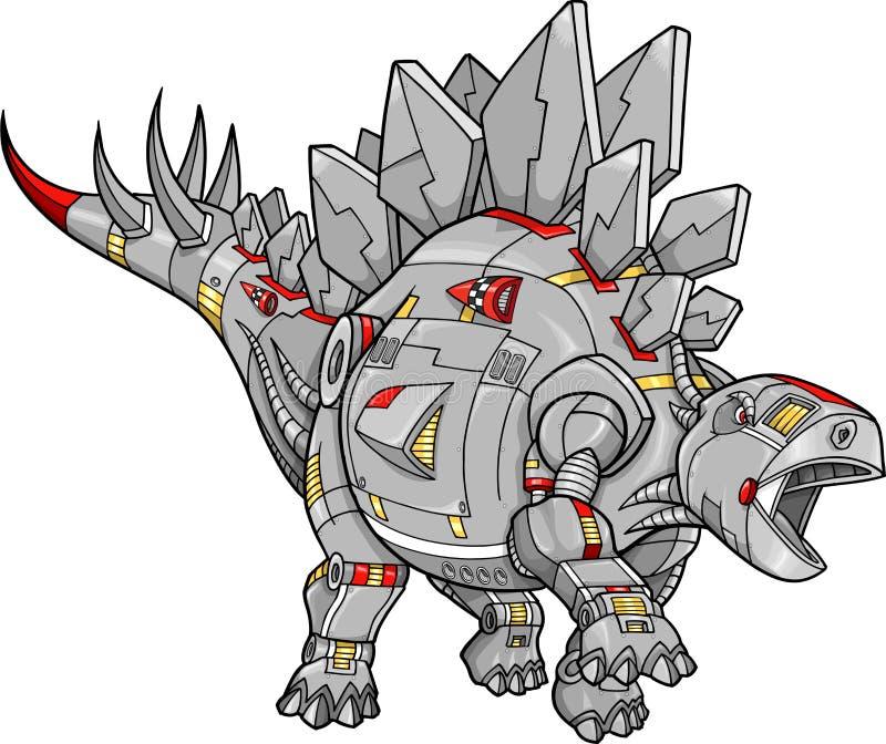 stegosaurus ρομπότ δεινοσαύρων διανυσματική απεικόνιση