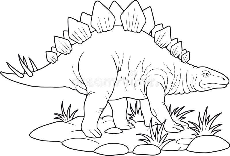 stegosaurus иллюстрация вектора