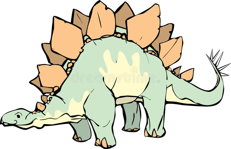 Download Stegosaurus stock vector. Image of triassic, fossil, paleolithic - 9672807