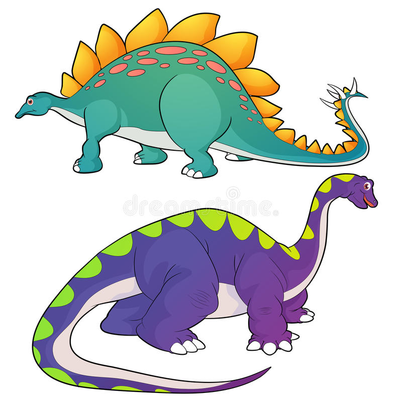 Stegosaurus-apatosaurus illustration libre de droits