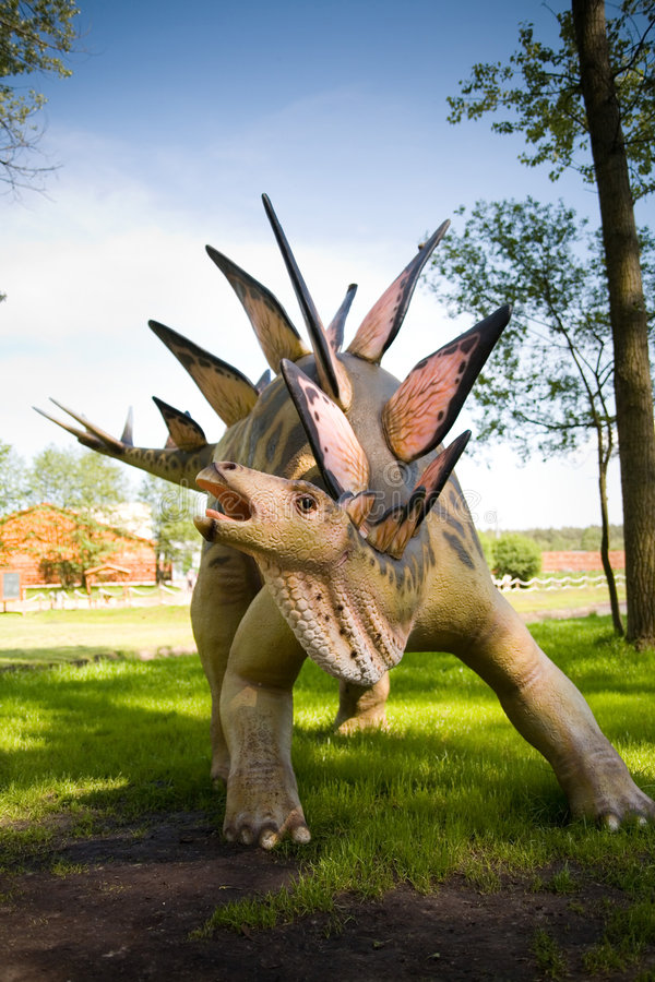 Download Stegosaurus armatus stock photo. Image of dinosaur, attack - 2485322