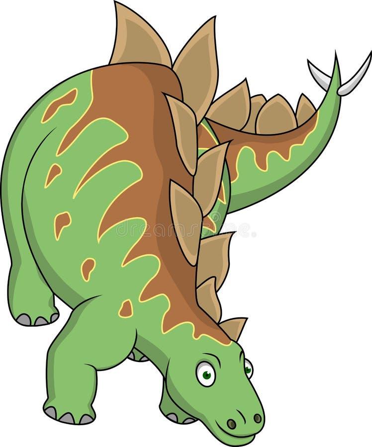 Download Stegosaurus cartoon stock vector. Illustration of nature - 24706228