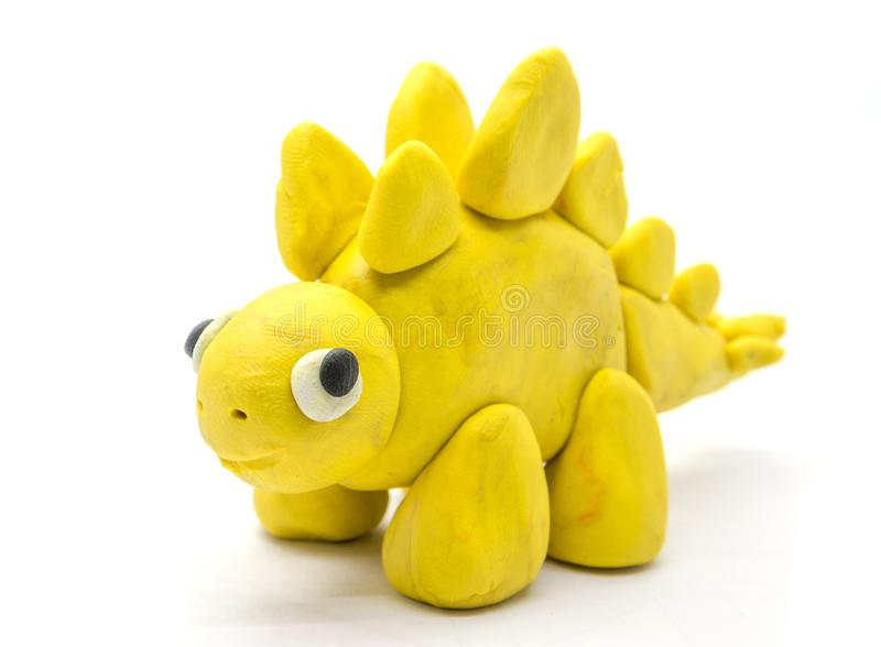 Stegosaurus da massa do jogo no fundo branco foto de stock