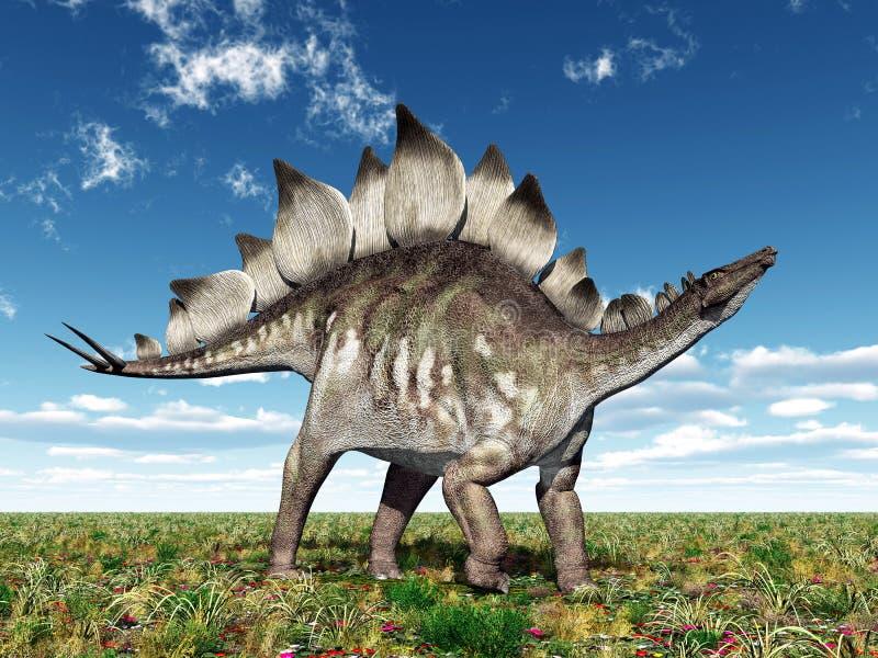 Stegosaurus de dinosaure illustration stock