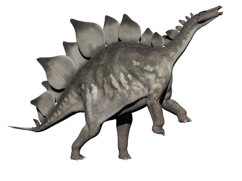 Stegosaurus dinosaur - 3d render royalty free illustration