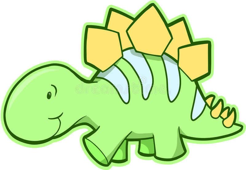 Download Stegosaurus Dinosaur Vector Royalty Free Stock Images - Image: 4764349