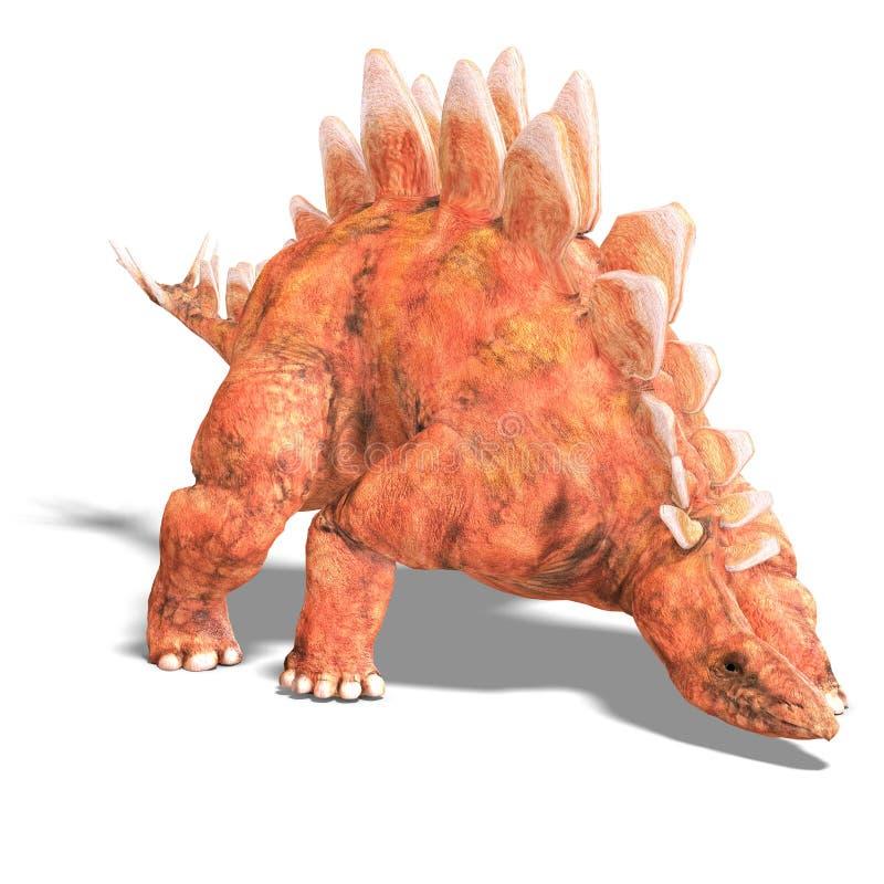 Stegosaurus do dinossauro ilustração stock