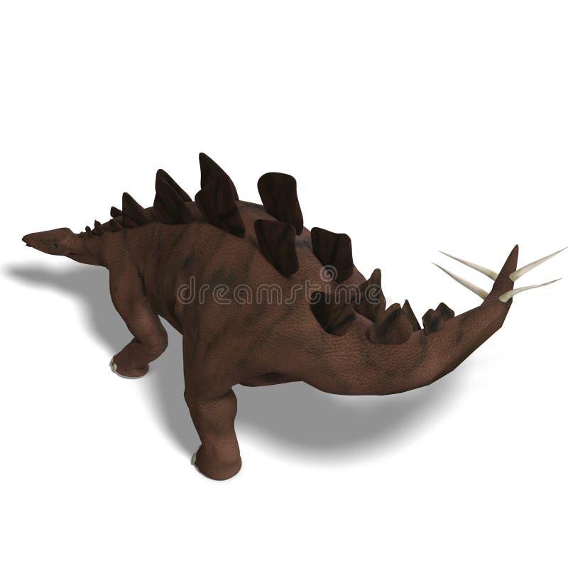 Stegosaurus do dinossauro ilustração do vetor