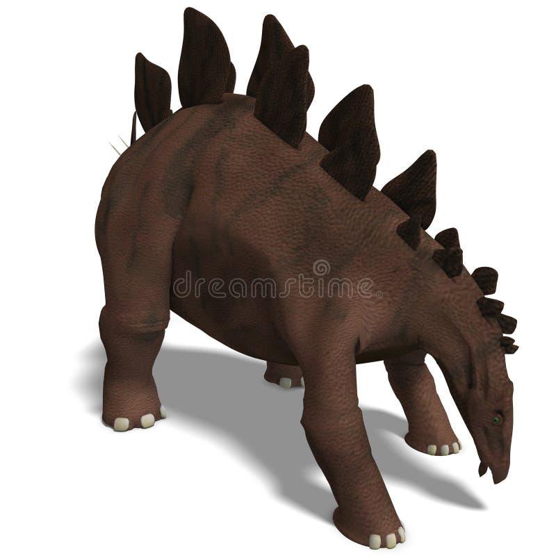 Stegosaurus do dinossauro ilustração royalty free