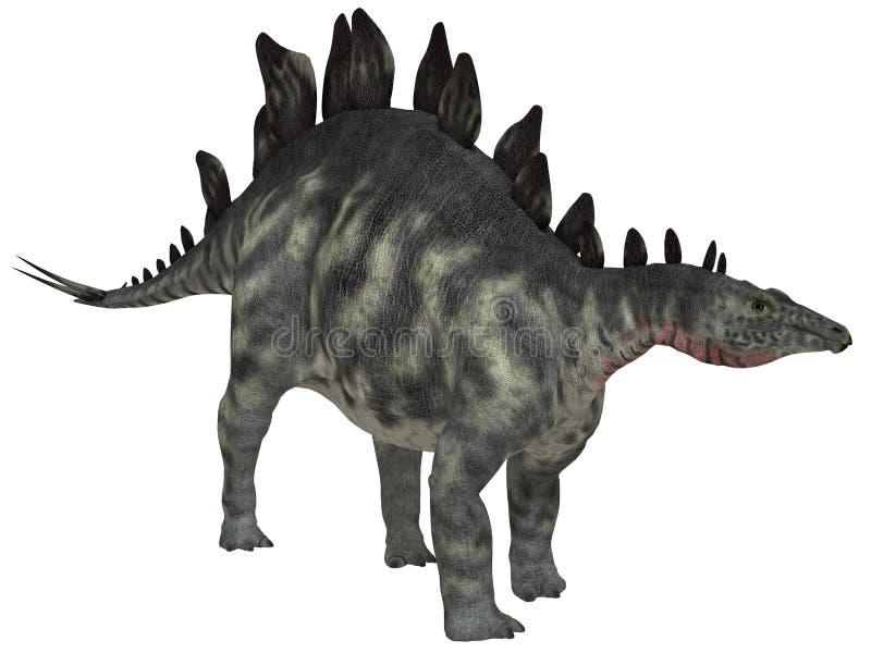 Stegosaurus isolado ilustração stock
