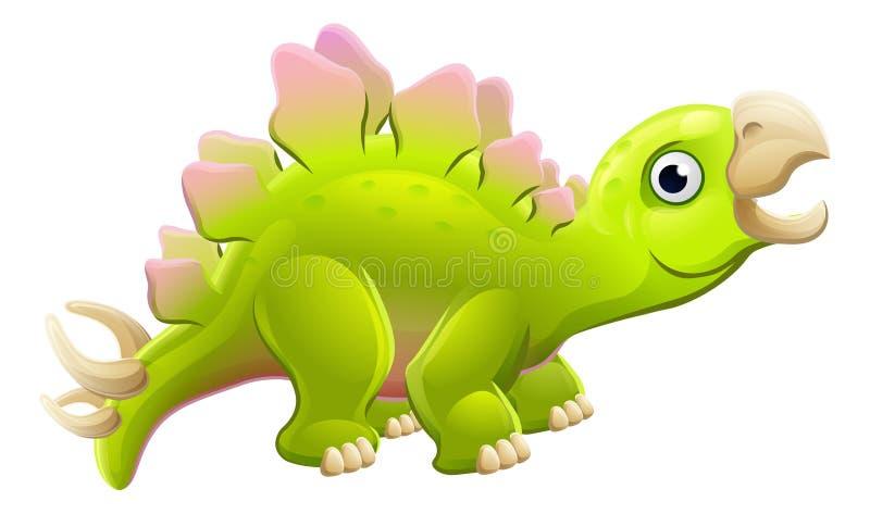 Stegosaurus lindo del dinosaurio de la historieta ilustración del vector