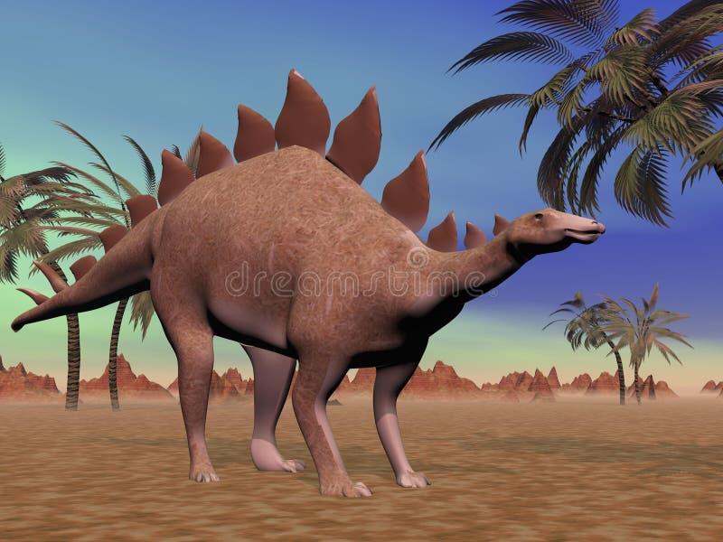 Stegosaurus quieto ilustração royalty free
