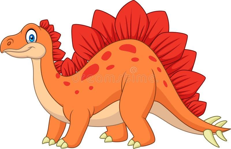 Stegosaurus sonriente de la historieta libre illustration