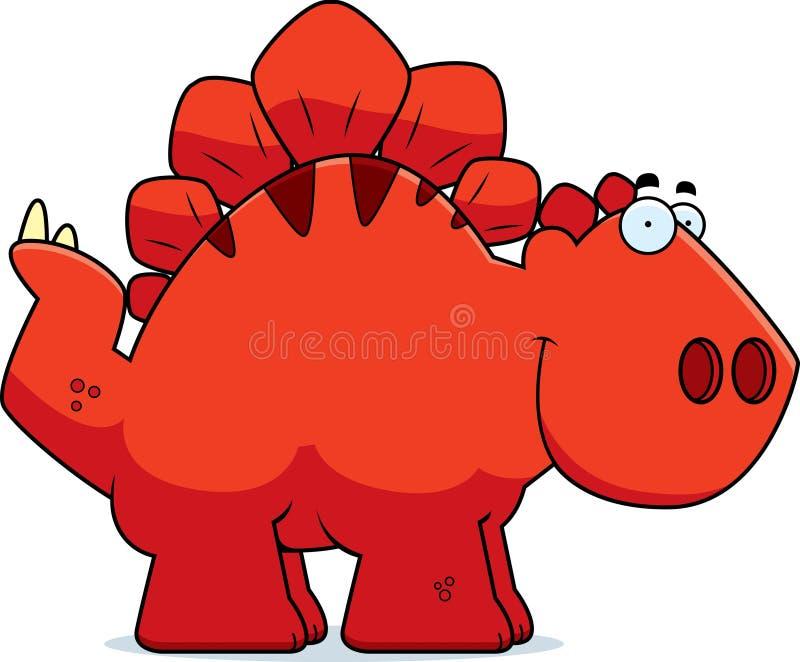 Stegosaurus sonriente de la historieta stock de ilustración
