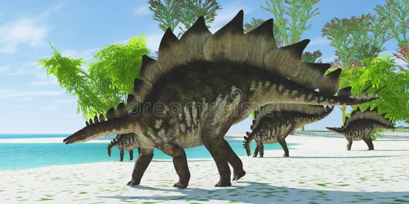 Stegosaurusmeer vector illustratie